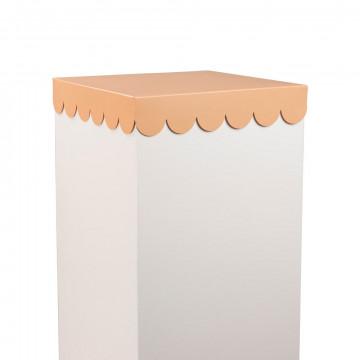 presentatie plateau schulp, trendy en stijlvol je product tonen, roze metaal, 30.4 x 30.4 x 5.8 cm