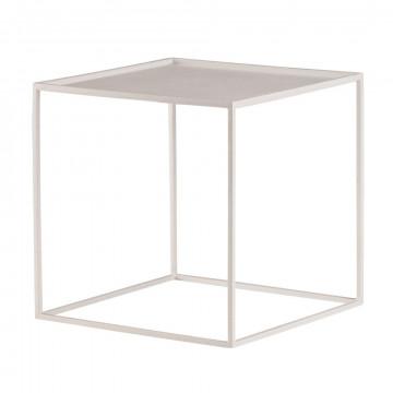 quadro mini l, sterke opbouwer in verschillende maten en kleuren leverbaar, wit metaal, 26.5 x 26.5 x 26.5 cm