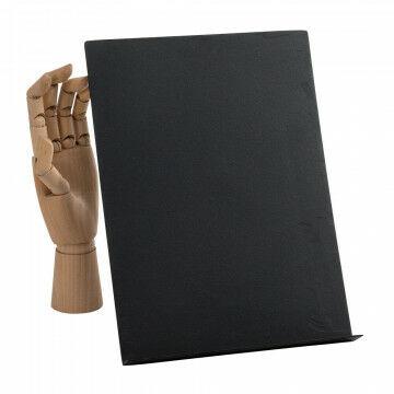 vmframe-tools display a4 staand in een hoek van 30 graden, zwart metaal, 22 x 30.5 x 7 cm