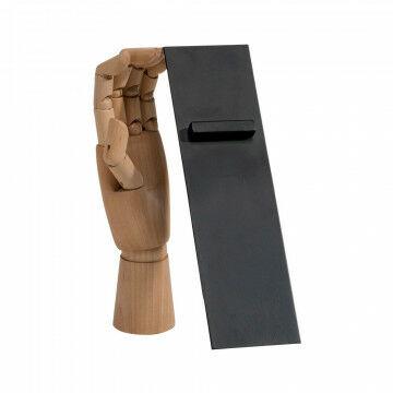 vmframe-tools display voor schoenen schuin staand 30 graden, zwart metaal, 7 x 25 cm