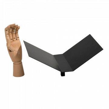 vmframe-tools display voor open boeken, zwart metaal, 30 x 20 x 14.5 cm