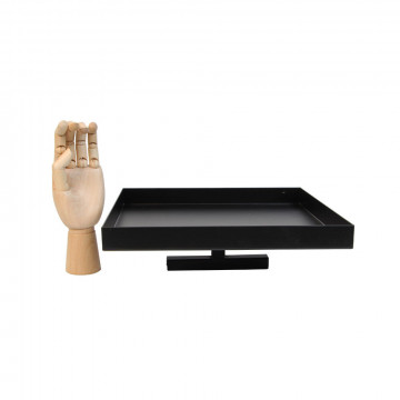 vmframe-tools extra sterk plateau voor zware platte presentatie en kubus 30x30cm, zwart metaal, 30.5 x 30.5 x 8 cm