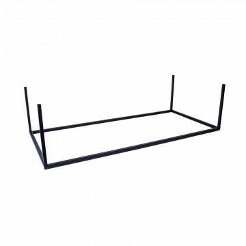 vmframe-base losse bodem heavy duty om van het frame een verkoopmeubel te maken, zwart metaal, 100 x 45 x 26.5 cm