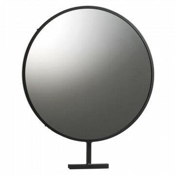 grote ronde spiegel voor in het vmframe -kunnen bekijken is verkopen!, zwart metaal, 50 x 60 cm