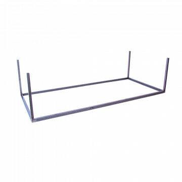 vmframe-base losse bodem heavy duty om van het frame een verkoopmeubel te maken, grijs metaal, 100 x 45 x 26.5 cm