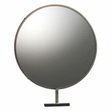 grote ronde spiegel voor in het vmframe -kunnen bekijken is verkopen!, zilver metaal, 50 x 60 cm