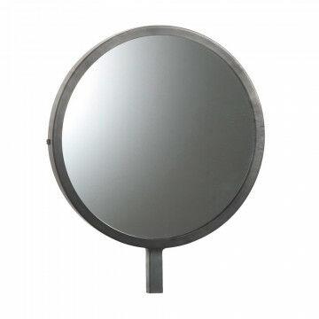 kleine ronde spiegel speciaal voor de vmframe vloerstandaards, zilver metaal, 25 x 30 cm