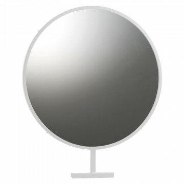 grote ronde spiegel voor in het vmframe -kunnen bekijken is verkopen!, wit metaal, 50 x 60 cm