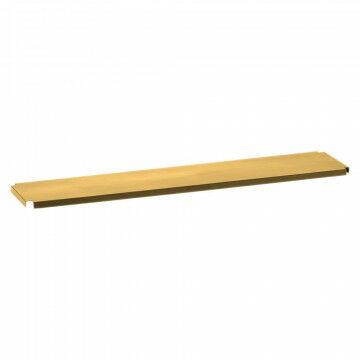 vmframe-tools smalle plank om kleine artikelen op te presenteren, goud metaal, 100 x 21.5 x 2 cm