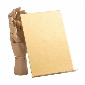 vmframe-tools display a5 staand in een hoek van 30 graden, goud metaal, 15.5 x 22 x 7 cm