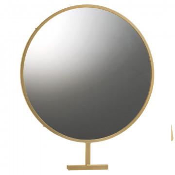 grote ronde spiegel voor in het vmframe -kunnen bekijken is verkopen!, goud metaal, 50 x 60 cm