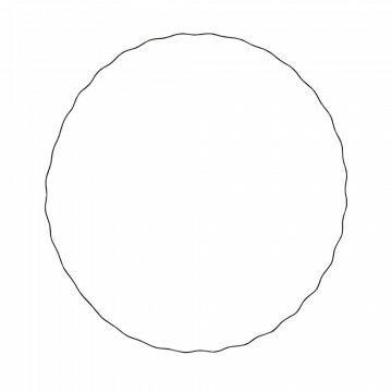 cirkel wave m met golf om op te hangen, zwart metaal, 74 cm
