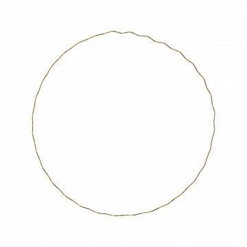 cirkel wave s met golf om op te hangen, goud metaal, 51 cm