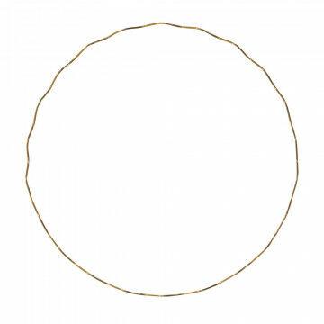 cirkel wave m met golf om op te hangen, goud metaal, 74 cm