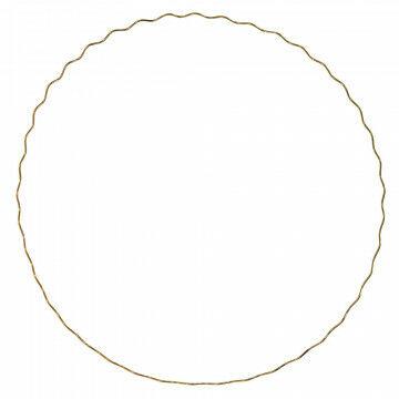 cirkel wave l met golf om op te hangen, goud metaal, 100 cm