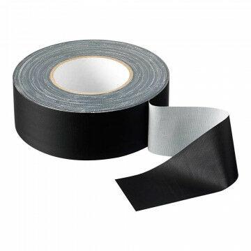 Podium 'Gaffer' tape mat, semi permanent, 50 meter, zwart kunststof, 5 cm