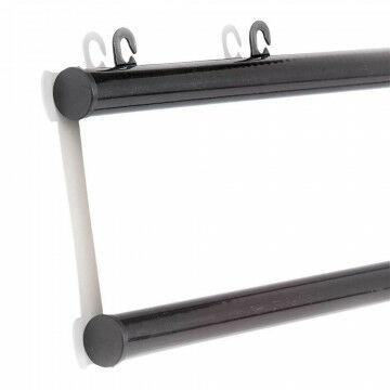 Posterklem profielen min 1.5mm dik materiaal, rond, met 2 ogen, 2-delig, zwart kunststof, 100 cm