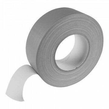 Podium 'Gaffer' tape mat, semi permanent, 50 meter, grijs kunststof, 50000 x 5 cm