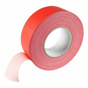 Podium 'Gaffer' tape mat, semi permanent, 50 meter, rood kunststof, 5 cm