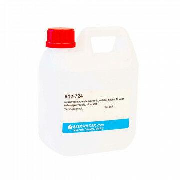 Brandvertragende vloeistof natuur flacon 1l voor natuurlijke absorberende materialen, vloeistof