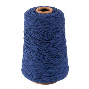 katoenen koord op traditionele spoel, blauw textiel, 500 cm
