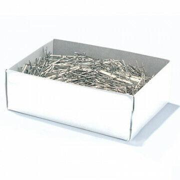 Confectiespelden zeer fijn, messing vernikkeld, zilver metaal, 3 cm