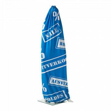 Hoes voor modefiguur 'SALE', blauw textiel, 60 x 200 cm