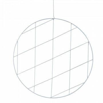 cirkelframe medium, wit metaal, 75 cm