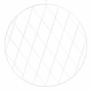 cirkelframe large, wit metaal, 0.6 x 100 cm