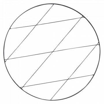 cirkelframe small, zwart metaal, 50 cm