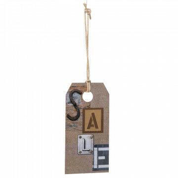 xl label sale industrieel inclusief 2 meter touw, karton, 70 x 35 cm
