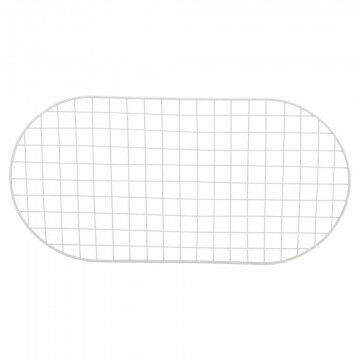 ovaal frame met raster van 5x5cm, gepoedercoat, wit metaal, 100 x 50 cm