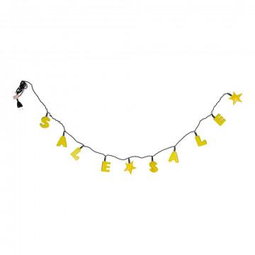 lichtset sale, geel kunststof, 140 cm