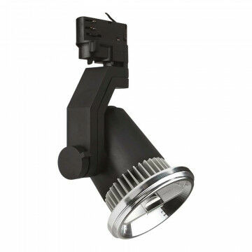Armatuur Loft v/spanningrail geschikt voor LED reflector AR111, zwart kunststof, 20 cm