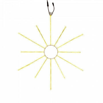 licht ornament shine koppelbaar tot 3 stuks, exclusief stekker, goud metaal, 110 x 90 cm