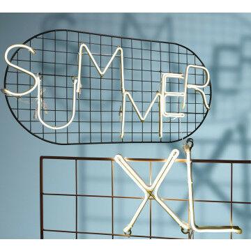 led letters, 9 stuks, koppelbaar, incl. stekker, warm wit neon led, diverse woorden, wit kunststof, 22 cm
