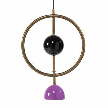 hanglamp universe, brass paars en zwart met 5 mtr aanloopsnoer en stekker exclusief lamp, metaal, 30 x 10 x 40 x 10 cm