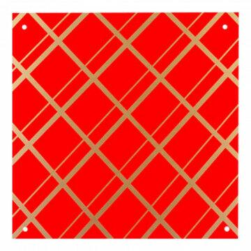 Paneel 'Ruit' 2mm dik, rood kunststof, 40 x 40 cm