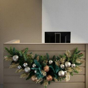 Dennenboog inclusief luxe decoratieset