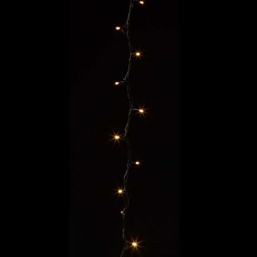 lichtsnoer voor buiten van 10 meter met 100 warm witte led-lampjes, koppelbaar, zwart kunststof