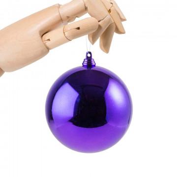 kerstbal in glanzende finish en onbreekbaar, paars kunststof, 10 cm