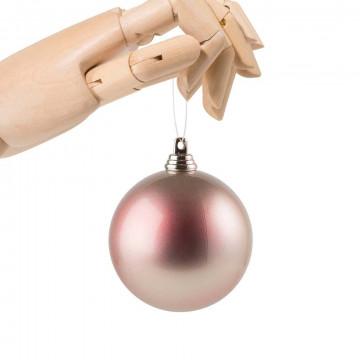 kerstbal in metallic oliefinish en onbreekbaar, kunststof, 7 cm