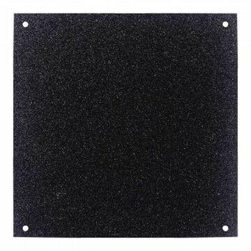Paneel Glitter koppelbaar, met 4 gaatjes, 2-zijdig, zwart kunststof, 30 x 30 cm