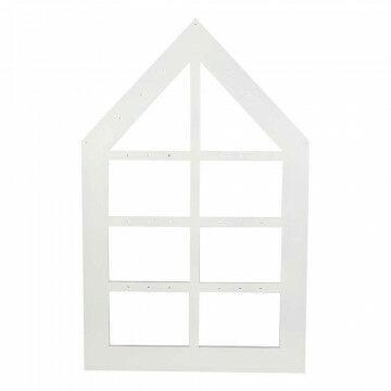Raamwerk opengewerkt frame, wit hout, 70 x 110 cm