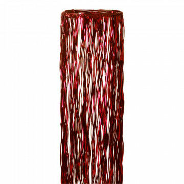 Hoepelgordijn, rood kunststof, 300 x 90 cm