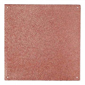 Paneel Glitter flexibel materiaal, koper kunststof, 30 x 30 cm