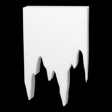 IJspegel dacron, wit dacron, 50 x 80 cm
