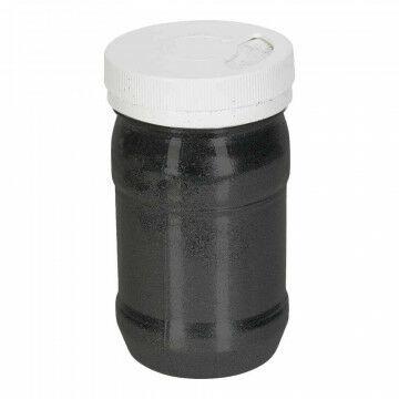 glitter in een strooibus van 100 gram, zwart kunststof
