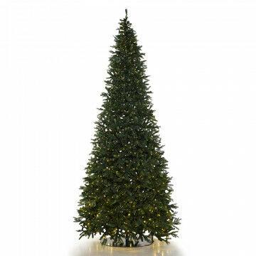 kerstboom Waltham met 960 warm wit LED, 4673 tips, mix luvi en PE, groen kunststof, 450 cm