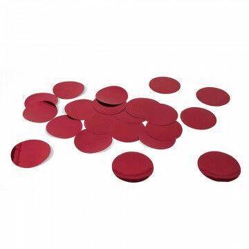 paillet xl groots effect, 50 stuks, rood kunststof, 10 cm